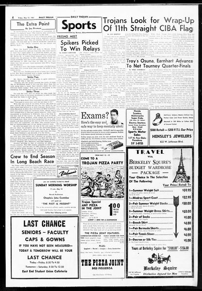 Daily Trojan, Vol. 52, No. 124, May 12, 1961