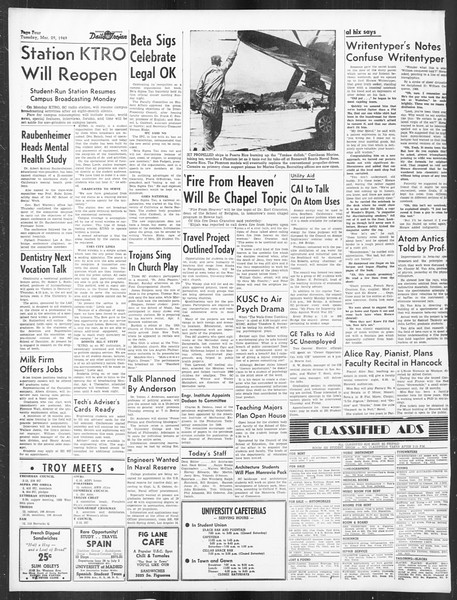 Daily Trojan, Vol. 40, No. 108, March 29, 1949