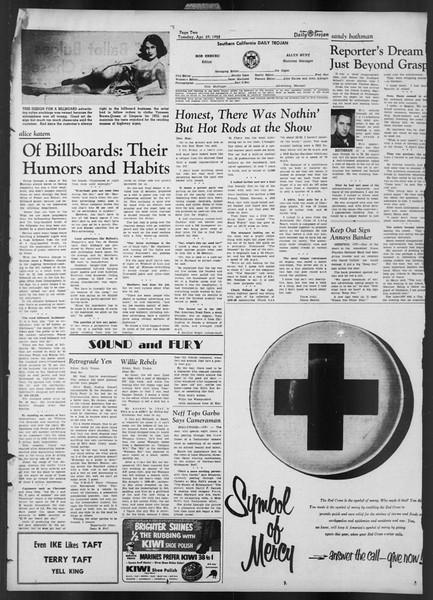 Daily Trojan, Vol. 43, No. 123, April 29, 1952