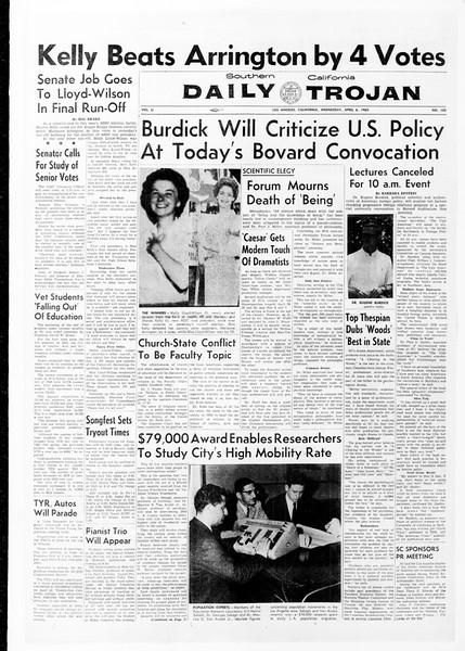 Daily Trojan, Vol. 51, No. 102, April 06, 1960