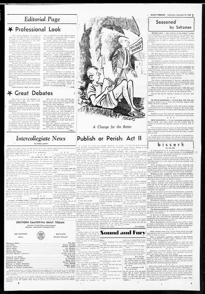 Daily Trojan, Vol. 52, No. 8, September 28, 1960