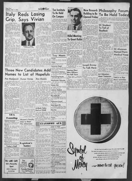 Daily Trojan, Vol. 44, No. 17, October 07, 1952