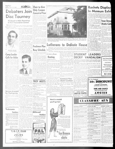 Daily Trojan, Vol. 40, No. 49, November 19, 1948