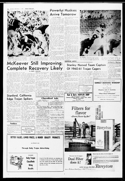 Daily Trojan, Vol. 52, No. 33, November 03, 1960