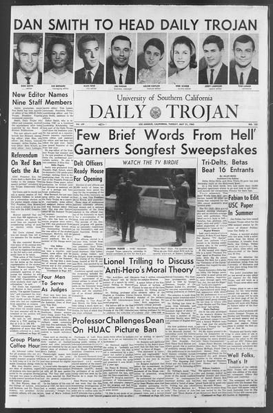 Daily Trojan, Vol. 54, No. 122, May 21, 1963