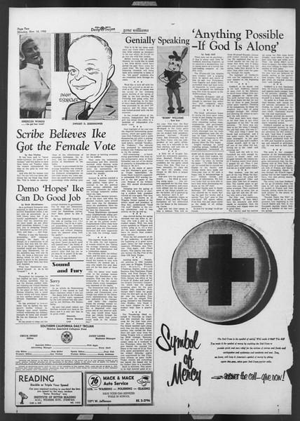 Daily Trojan, Vol. 44, No. 40, November 10, 1952