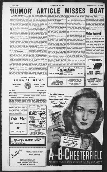 Summer News, Vol. 4, No. 14, July 28, 1949