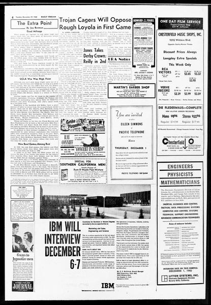 Daily Trojan, Vol. 52, No. 48, November 29, 1960
