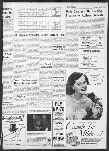 Daily Trojan, Vol. 41, No. 70, January 09, 1950