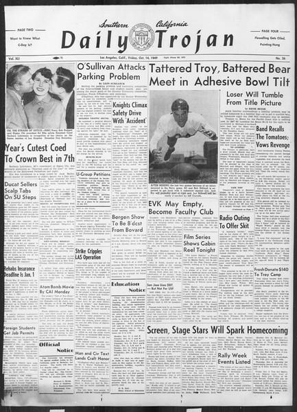 Daily Trojan, Vol. 41, No. 26, October 14, 1949