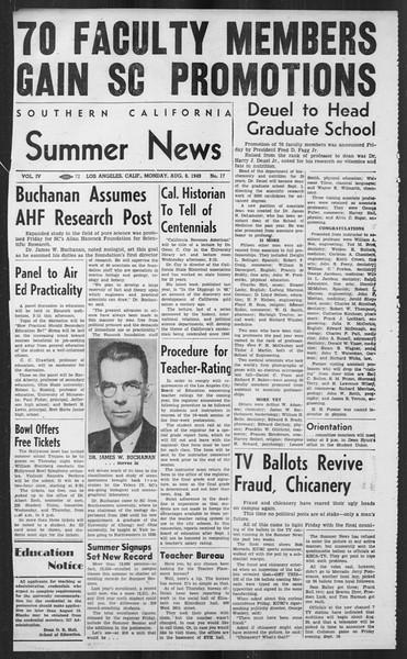 Summer News, Vol. 4, No. 17, August 08, 1949