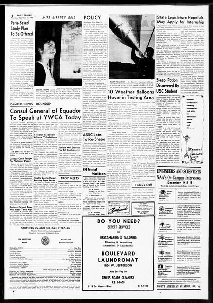 Daily Trojan, Vol. 52, No. 60, December 15, 1960