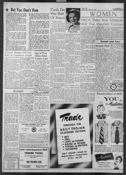 Daily Trojan, Vol. 43, No. 104, March 26, 1952