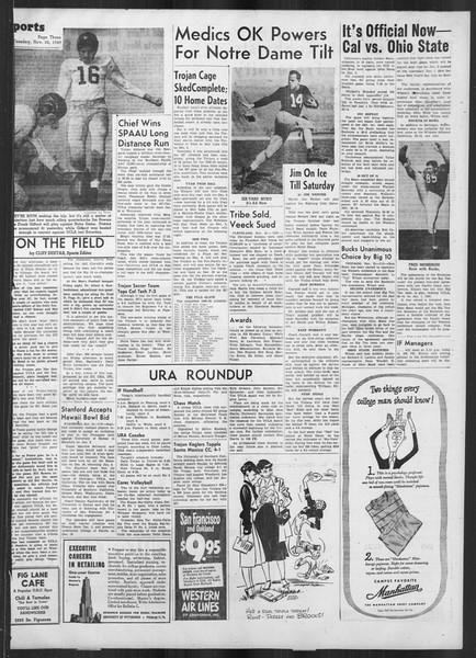 Daily Trojan, Vol. 41, No. 52, November 22, 1949