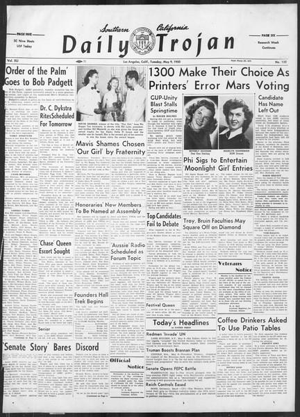 Daily Trojan, Vol. 41, No. 132, May 09, 1950