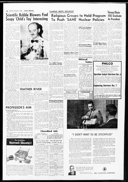 Daily Trojan, Vol. 52, No. 52, December 05, 1960