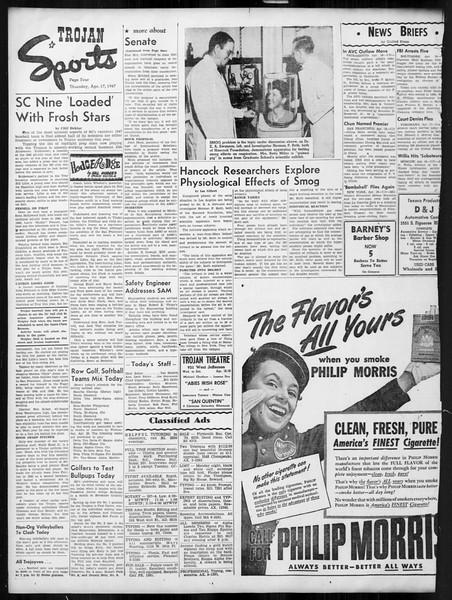 Daily Trojan, Vol. 38, No. 116, April 17, 1947