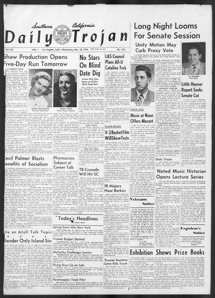 Daily Trojan, Vol. 41, No. 100, March 22, 1950