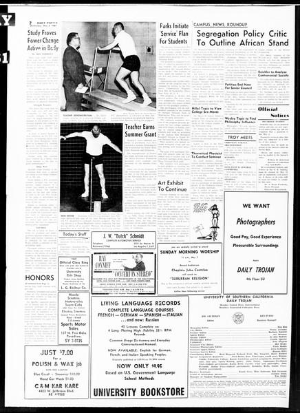 Daily Trojan, Vol. 52, No. 118, May 03, 1961
