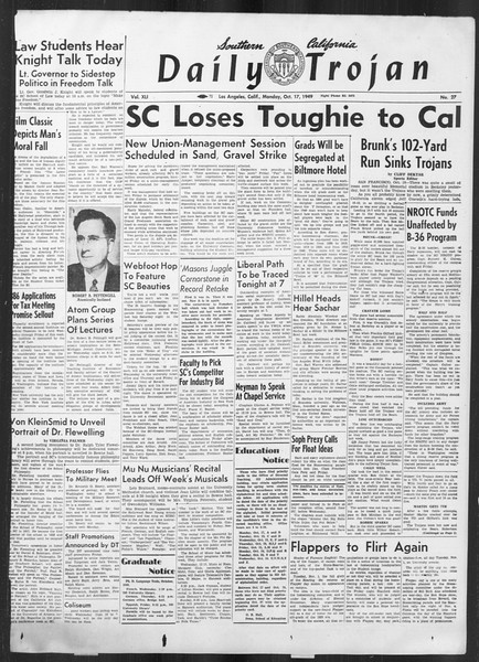 Daily Trojan, Vol. 41, No. 27, October 17, 1949