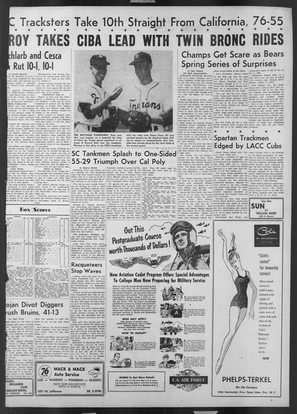 Daily Trojan, Vol. 43, No. 112, April 07, 1952