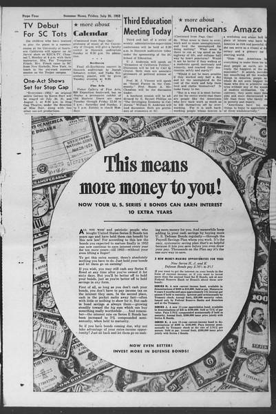 Summer News, Vol. 7, No. 9, July 25, 1952