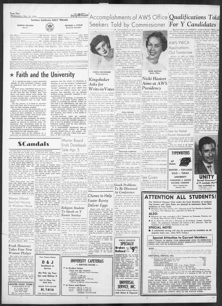 Daily Trojan, Vol. 41, No. 105, March 29, 1950