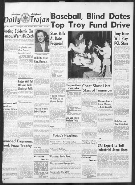 Daily Trojan, Vol. 41, No. 89, March 07, 1950