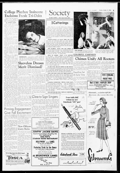 Daily Trojan, Vol. 52, No. 17, October 11, 1960