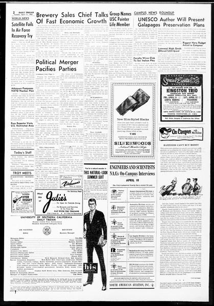 Daily Trojan, Vol. 52, No. 102, April 11, 1961