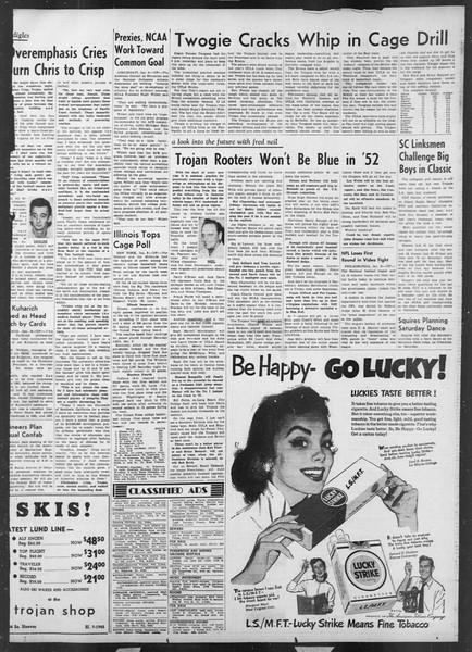 Daily Trojan, Vol. 43, No. 66, January 09, 1952