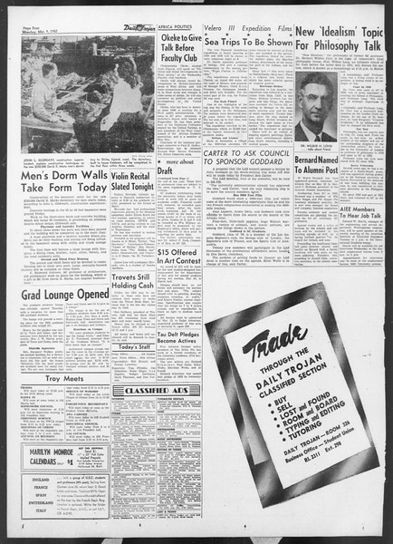 Daily Trojan, Vol. 44, No. 90, March 09, 1953