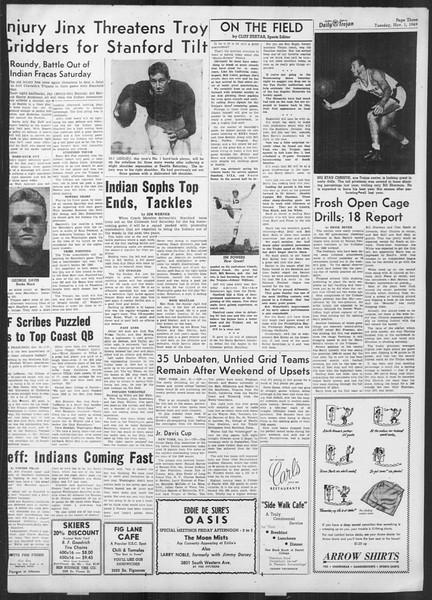 Daily Trojan, Vol. 41, No. 37, November 01, 1949