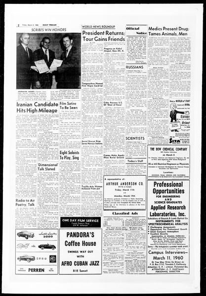 Daily Trojan, Vol. 51, No. 78, March 04, 1960
