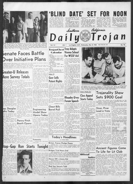 Daily Trojan, Vol. 41, No. 90, March 08, 1950
