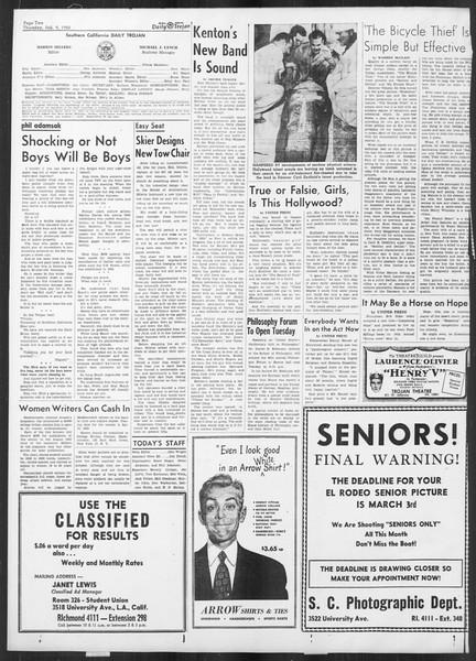 Daily Trojan, Vol. 41, No. 72, February 09, 1950