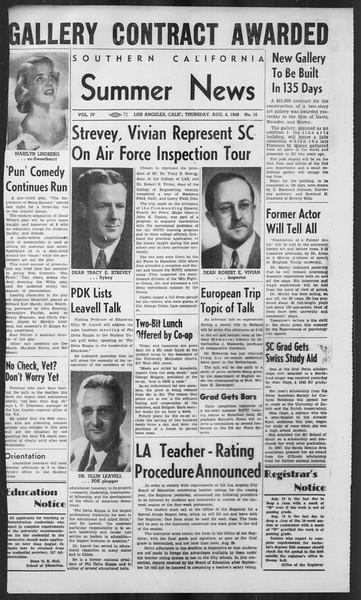 Summer News, Vol. 4, No. 16, August 04, 1949