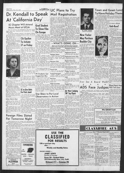 Daily Trojan, Vol. 41, No. 56, November 30, 1949