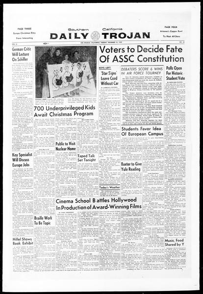 Daily Trojan, Vol. 51, No. 54, December 15, 1959