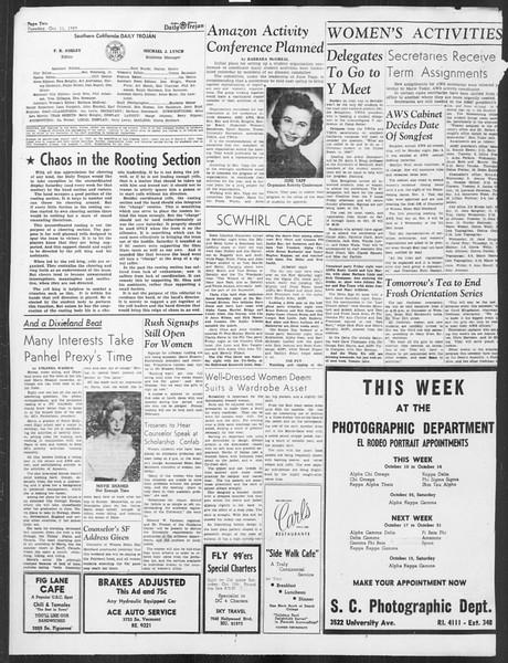 Daily Trojan, Vol. 41, No. 23, October 11, 1949