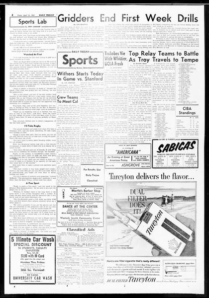 Daily Trojan, Vol. 52, No. 105, April 14, 1961