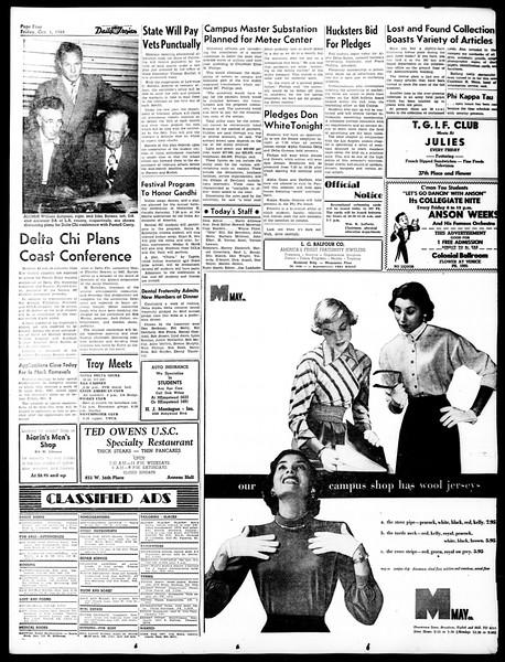 Daily Trojan, Vol. 40, No. 15, October 01, 1948