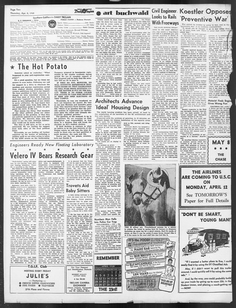 Daily Trojan, Vol. 39, No. 114, April 08, 1948