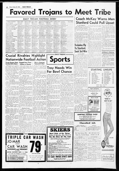 Daily Trojan, Vol. 52, No. 30, October 28, 1960