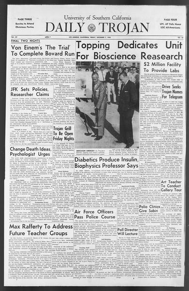Daily Trojan, Vol. 54, No. 49, December 07, 1962