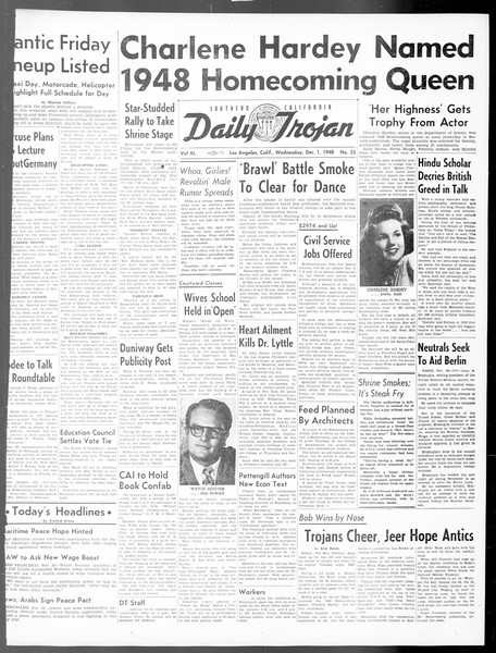 Daily Trojan, Vol. 40, No. 55, December 01, 1948