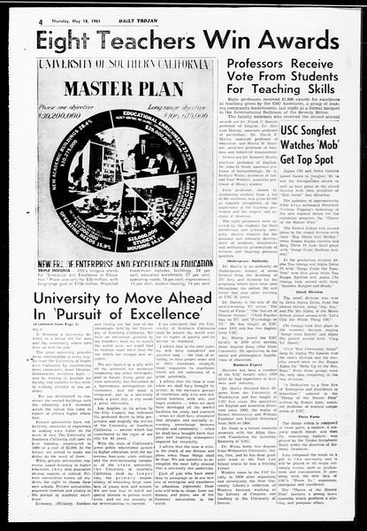 Daily Trojan, Vol. 52, No. 125, May 18, 1961