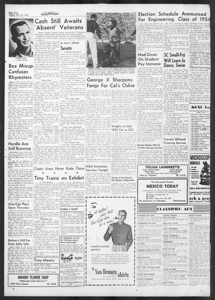 Daily Trojan, Vol. 42, No. 20, October 13, 1950
