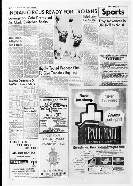 Daily Trojan, Vol. 51, No. 22, October 21, 1959