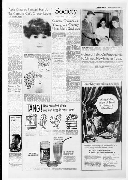 Daily Trojan, Vol. 51, No. 16, October 13, 1959